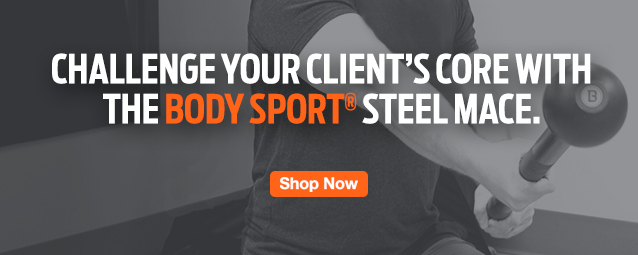 Half Page Ad – Shop the Body Sport® Steel Mace – Click to Shop