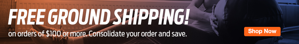 Homepage Banner Ad - Free Ground Shipping on orders of $100 or more - Click to Login