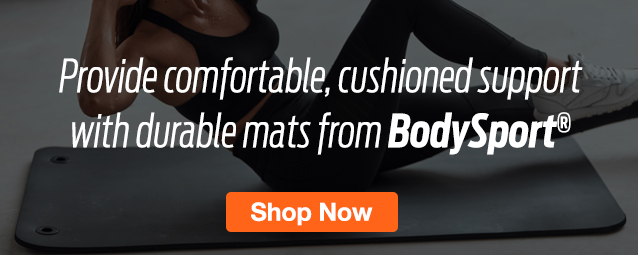 Half Page Ad –  Shop Best-in-Value Mats from BodySport – Click to View Page