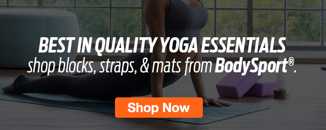 Half Page Ad – Shop Yoga Essentials from BodySport – Click to View Page