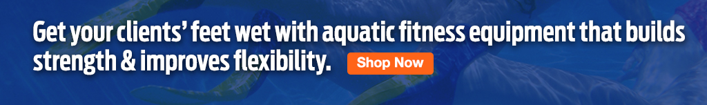 Full Page Ad – Shop ELIVATE's Aquatic Fitness Products – Click to View Page
