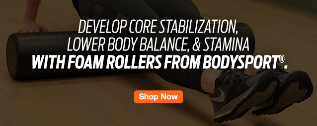 Half Page Ad – Shop High-Density Foam Rollers from BodySport® – Click to View Page