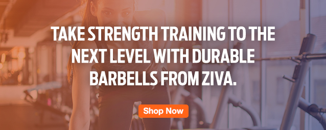 Half Page Ad – Shop ZIVA Barbells – Click to View Page
