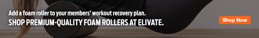 Full Page Ad – Recovery Starts with Foam Rollers at ELIVATE – Click to View Page