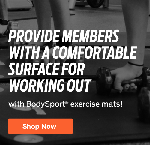Half Page Ad – Shop Exercise Mats from BodySport  – Click to View Page