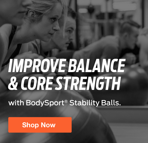 Half Page Ad – Shop Best-in-Value Stability Balls from BodySport – Click to View Page