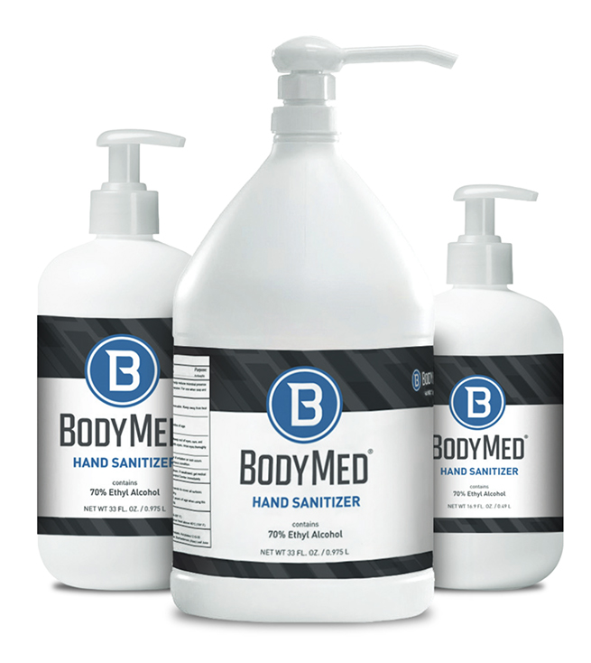 Bodymed -Hand Sanitizer, 70% Ethyl Alcohol, all sizes
