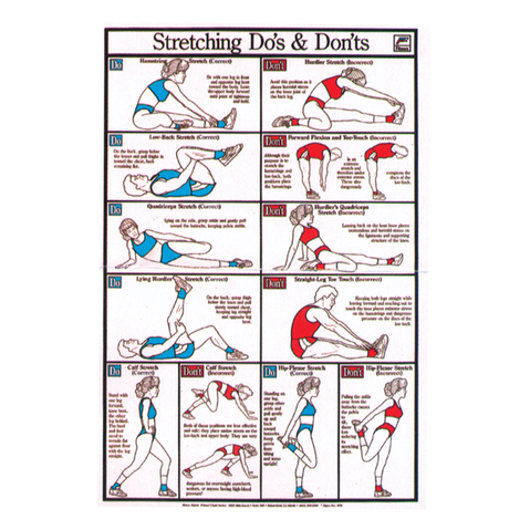 Stretching Do's & Don'ts Chart at ELIVATE™