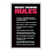 The Weight Training Rules Chart