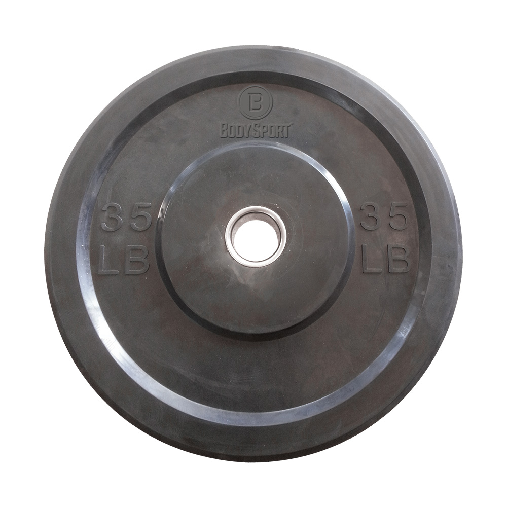 BODY SPORT 2 in. Rubber Olympic Bumper Plates