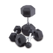 Body Sport Rubber Encased Hex Dumbbells