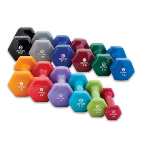 Body Sport® Vinyl Dumbbells at ELIVATE&treg;