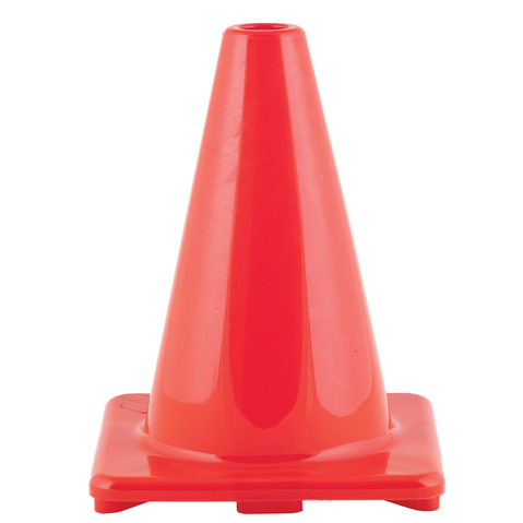 "Champion Sports 6"" Flexible Vinyl Training Cone For Agility & Fitness Drills"