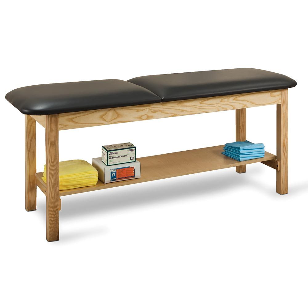 Classic Straight Line Treatment Table with Shelf