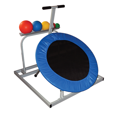 Weighted Medicine Ball Set: Adjustable Rebounder, 5 Balls & Rack