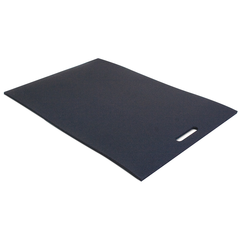 BODY SPORT Single-Layer, No-Fold, Cross-Linked Foam Mat with Handle