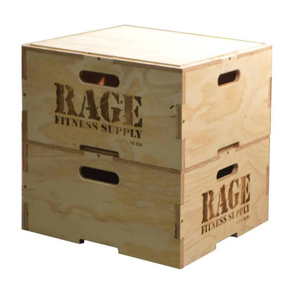 Rage Stackable Wood Plyo Boxes