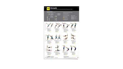 TRX All Body Strength Poster For Use With The TRX Suspension Trainer System