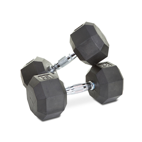 8-Sided Rubber Encased Dumbbell at ELIVATE™