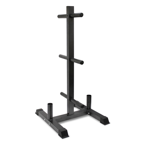 Vertical Olympic Bumper Plate & Bar Rack at ELIVATE™