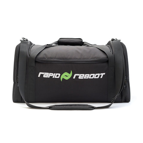 Rapid Reboot utilizes pneumatic compression to enhance post-workout muscle recovery.